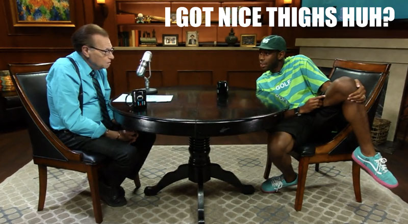 Tyler the Creator's nice thighs