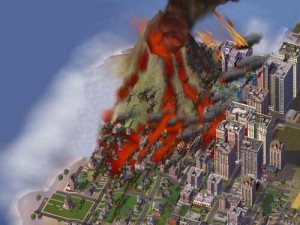 simcity volcano disaster