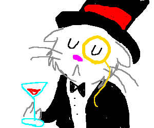 pompous cat